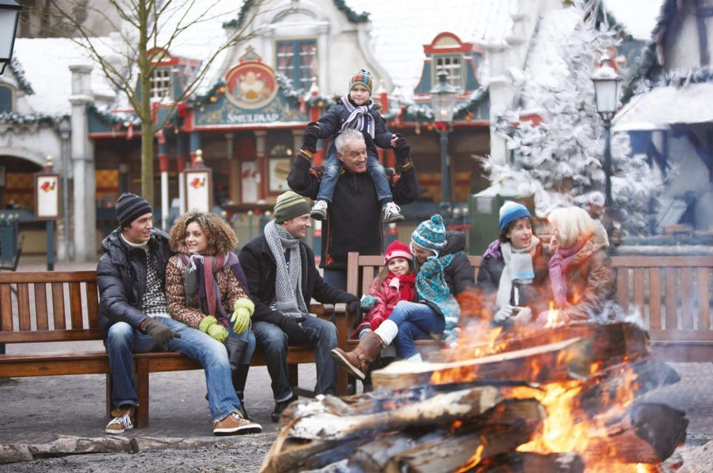 Winter Efteling Lagerfeuer Campfire