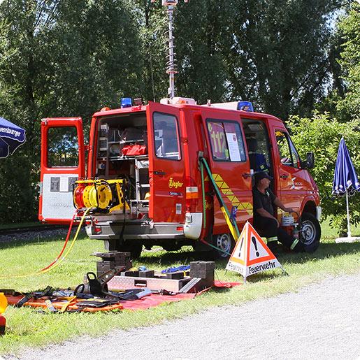 Feuerwehrtag Ravensburger Spieleland  Einsatzfahrzeug
