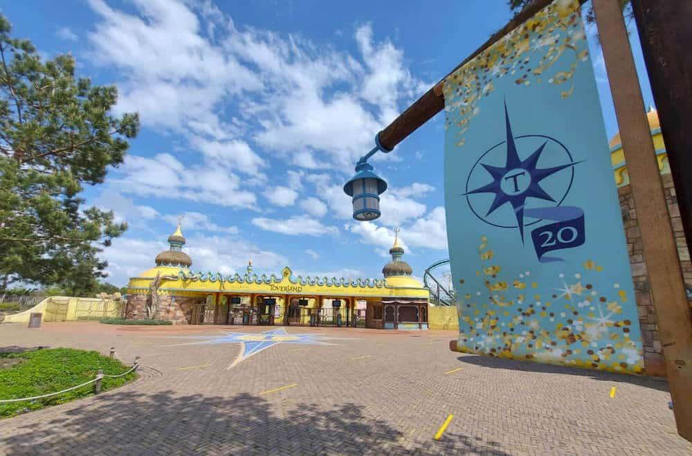 Toverland Freizeitpark Eingang 20 Jahre Jubiläum