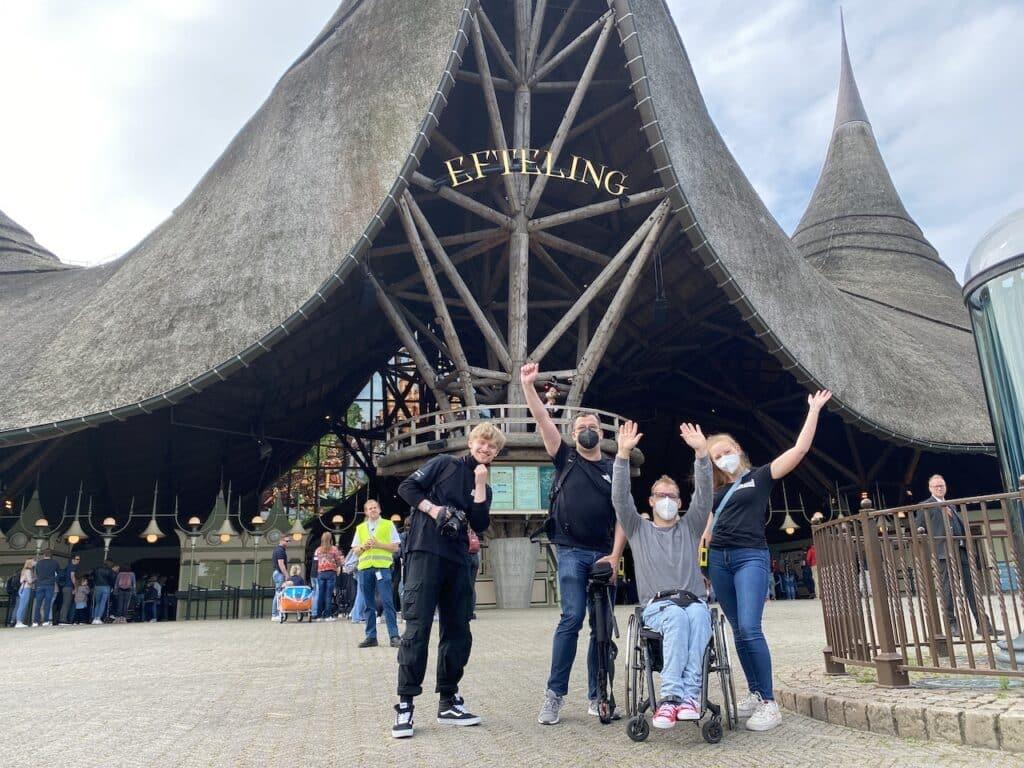 Efteling Drehtag mit Lara Micha und Jan