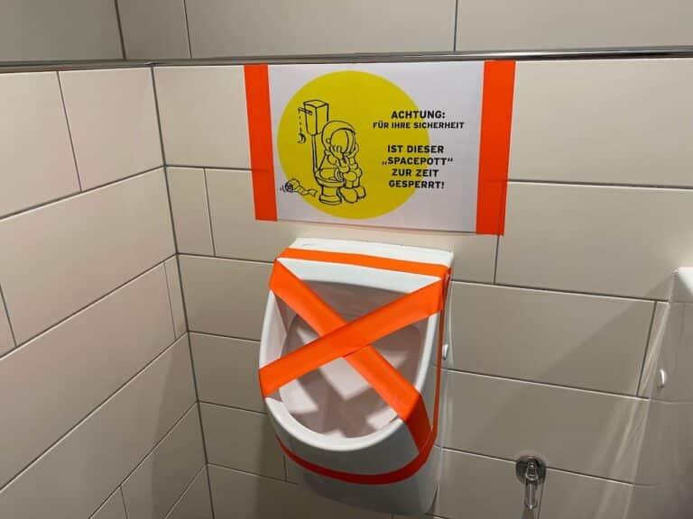Planetarium Bochum Covid Hinweise WC gesperrt