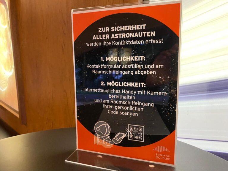 Planetarium Bochum Covid Hinweise