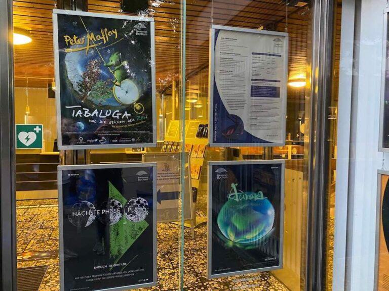 Planetarium Bochum Event Plakate